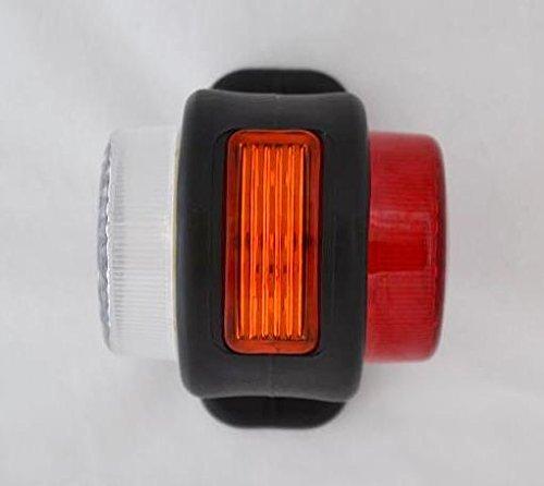 arancione//bianco//rosso 4 lampadine pz laterali Outline-Luci per rimorchio Van camion 24 V Camper Caravan Chassis colore