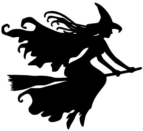 SPOT-IT Crafts Witch on Broomstick Vinyl Decal Sticker Witchcraft Halloween Wicca - 5