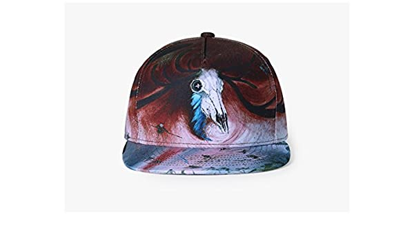 Amazon.com: Ruanyi Baseball Cap Trend Monster Graffiti 3D Printing Goat skull Hip-hop Hat Neutral Men women Street Dance fashion hat: Sports & Outdoors