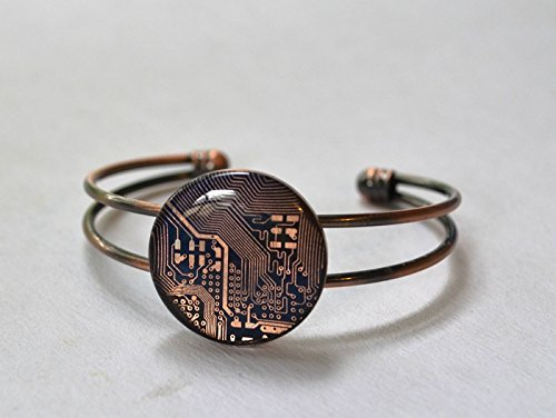 Recycled Circuit Board Copper Bracelet (Recycled Bracelet Copper)