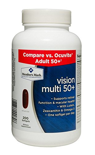 Members Mark Vision Multi 50+ with Lutein Zeaxanthin and Omega-3 (1 Bottle (200 Softgels)) For Sale