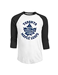 Men's Canada Toronto Maple Leafs Ice Hockey 3/4 Sleeve Baseball T-shirts Black (3 Colors)