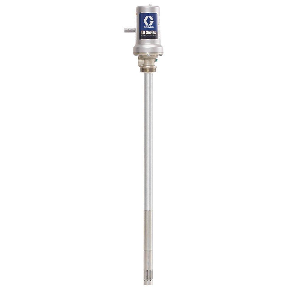 Graco 24G603 LD Series Air-Powered 50:1 Universal Grease Pump for 120 lb Drum, Black/Grey