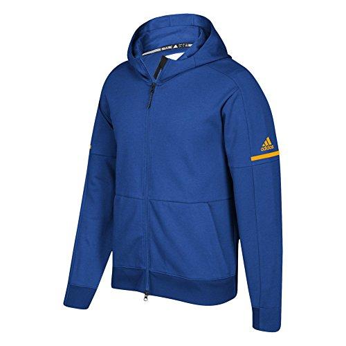 Adidas Spillet Bygget Tall Id Hele Zip Hoodie Kollegialt Royal-kollegialt Gull