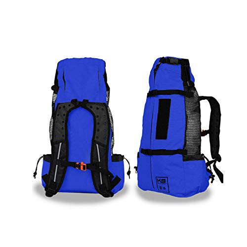 K9 Sport Sack | Dog Carrier Backpack for Small and Medium Pets | Front Facing Adjustable Pack with Storage Bag | Fully Ventilated | Veterinarian Approved (Large, Air - Cobalt Blue)