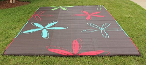 Epic RV Rugs Rv Mat Patio Rug Colorful Floral Design (Woven Nylon Rug)