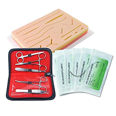 3 Layer Complete Suture Practice Kit For Suture Training Including Silicone Suture Pad Suture Tool kit