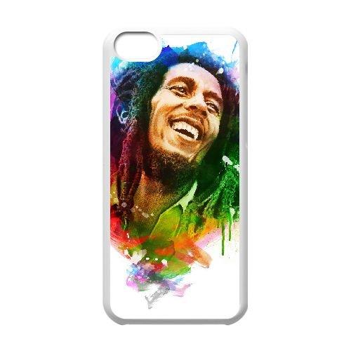 Bob Marley O8C80T2IQ coque iPhone 5c case coque white KOVLY6