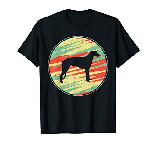 (Scottish Deerhound Retro Vintage Silhouette Cute Dog T-Shirt)