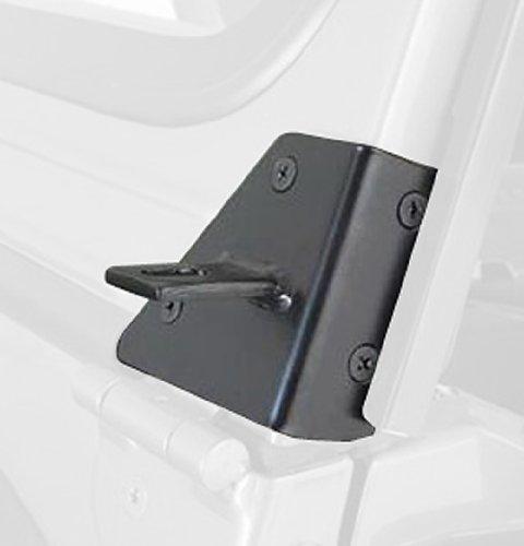 RAMPAGE PRODUCTS 7609 Black Windshield Hinge Light Bracket for 1976-1995 Jeep CJ & Wrangler YJ - Pair (Hinge Windshield Wrangler Jeep)