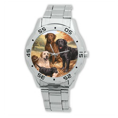 Best Gifts - Christmas Gift Cute Yorkshire Terrier with Glasses Watch Analogue Stainless Steel Men's Watch]()