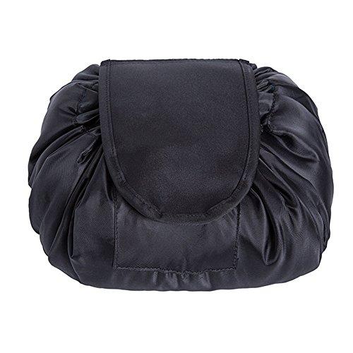 borse nero Majome Borsa trucco da coulisse cosmetici viaggio toilette organizer da con viaggio spazzole T4Uawxafq