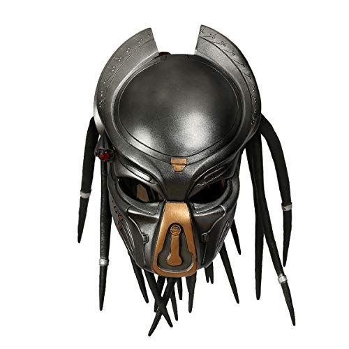 Xcoser Predator Mask with Dreads Hair Costume Accessories for Halloween Cosplay ()