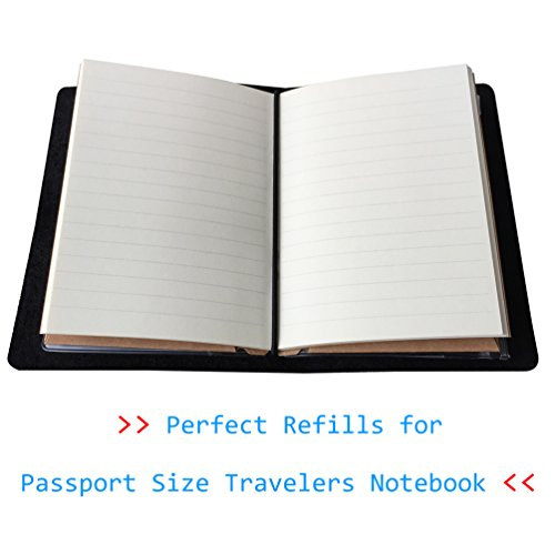 3-Pack Passport Book, Refills for Passport Size Travelers Notebook, Lined/Ruled Paper, 96 Sheets Photo #3