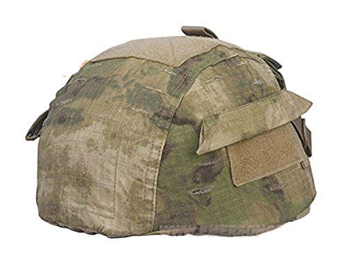 H World Shopping Tactical Airsoft Paintball Helmet Cover with Back Pouch for MICH2002 Ver2