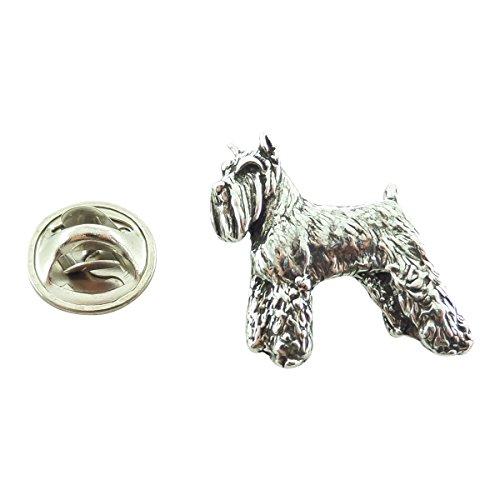Creative Pewter Designs, Pewter Schnauzer Mini Pin, Antiqued Finish, (Schnauzer Pin)