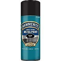 Hammerite 5084778 Metal Paint: Satin Black 400ml (Aerosol)
