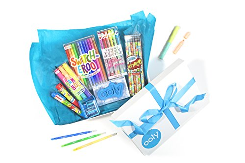 Ooly Self Expression Writing Gift Set for Boys 8-12 - Yummy Yummy Scented Glitter Pack of 12 Gel Pens, Pencils,Color Changing Markers, Scented Highlighters,ClickIt Eraser, Sharpener, 6 Click Multi Pen