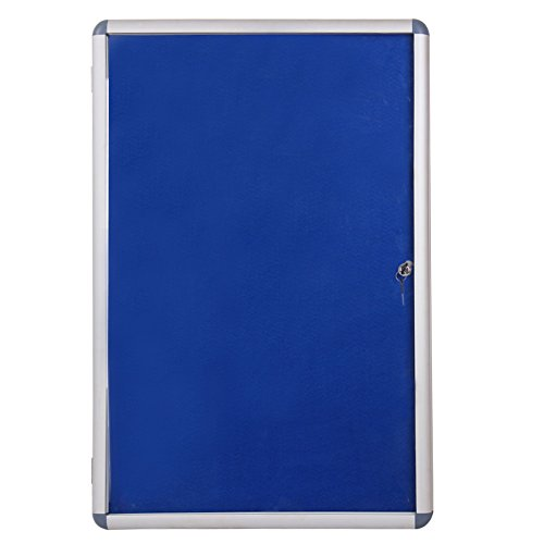 VIZ-PRO Tamperproof Lockable Noticeboard Class 1 Aluminium Framed 36x24 ()