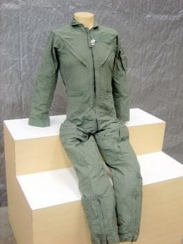 USGI Military USAF Women Nomex Sage Green Flight Suit - Size 44 WS