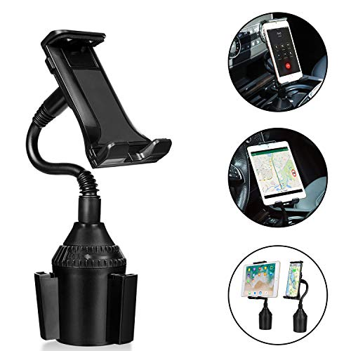 AnsTOP Cup Holder Phone Mount, Car Cup Holder Universal Adjustable Gooseneck Cradle Mount with 360° Rotation for iPhone 11/11 Pro/XR/XS/XS Max/iPad/iPod/Samsung Galaxy/GPS/HTC and More(Black)