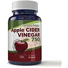 Maximum Potency 750mg Apple Cider Vinegar 60 Capsules