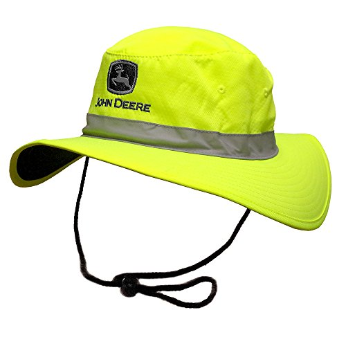 John Deere Brand High Visibility Neon Green Bucket Hat from John Deere