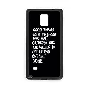Samsung Galaxy Note 4 Cell Phone Case Black_quotes good things comes get shit done TR2408908