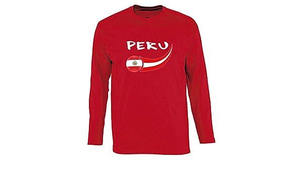 Supportershop - Perú - Camiseta de Manga Larga para Hombre: Amazon.es: Deportes y aire libre