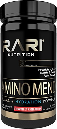 RARI Nutrition - AMINO MEND - 100% Natural BCAA Powder - Essential Amino Acids - Vegan and Keto Friendly - Endurance and Hydration - Pre | Intra | Post Workout - 30 Servings (Strawberry Watermelon) by RARI Nutrition