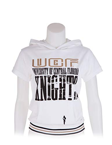 - Flying Colors Womens University of Central Florida Juniors Cap Sleeve Hoodie,White,X-Small