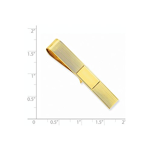 Tie 14k Money Clip Bar Yellow Bijou Gold Brilliant Genuine xq4gnpX