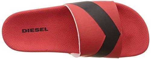 Diesel a-Lohaa SA-Maral-Sandals, Sandalias con Punta Abierta Para Hombre Multicolor (H2557 - Formula One/ Black)