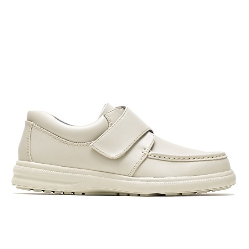 (Hush Puppies Gil Mens Slip On Shoes Sport White Leather 8.5)