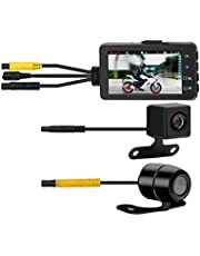 Pestelle FHD 1080P Waterproof Camera 3inch Motorcycle DVR Front Rear Dual Camera Driving Video Recorder Dash Cam Moto Bike HD
