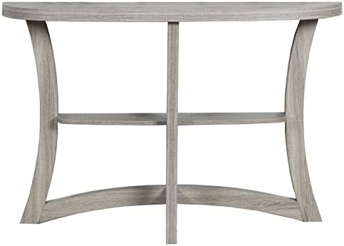 Monarch Two Tier Hall Console Accent Table, 47 , Dark Taupe