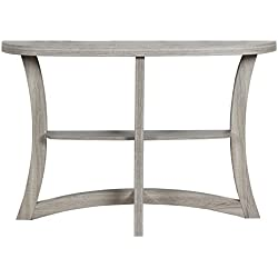 "Monarch Two Tier Hall Console Accent Table, 47"", Dark Taupe"