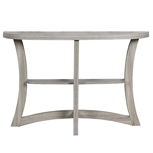 Monarch Two Tier Hall Console Accent Table, 47″, Dark Taupe For Sale