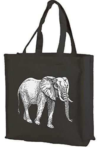 Black shopping Elephant Black Cotton Elephant bag Cotton bag shopping pq1dFq