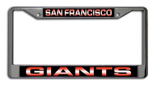 (MLB San Francisco Giants Laser-Cut Chrome Auto License Plate Frame)