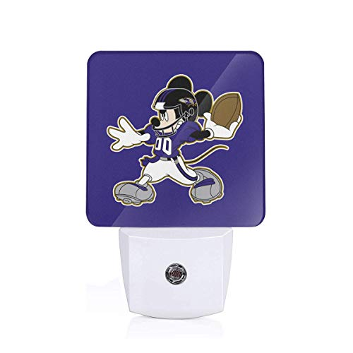 Dalean Baltimore Ravens High-Tech LED Night Light, Automatic - Baltimore Ravens Light Night