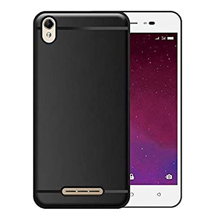 pretty nice c00ca aff5a Thinkzy Matte Finish Soft Back Case Cover for Lava Z60 - Black