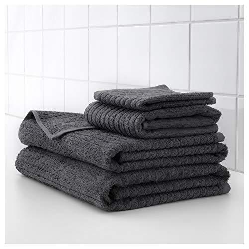 Ikea 303.536.08 Vagsjon - Toalla de baño (28 x 55), Color Gris Oscuro: Amazon.es: Hogar