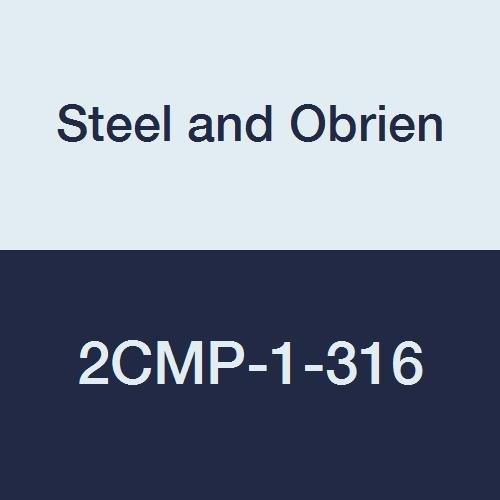 Steel and Obrien 2CMP-1-316 Stainless Steel Clamp, 90 degree Elbow, 1