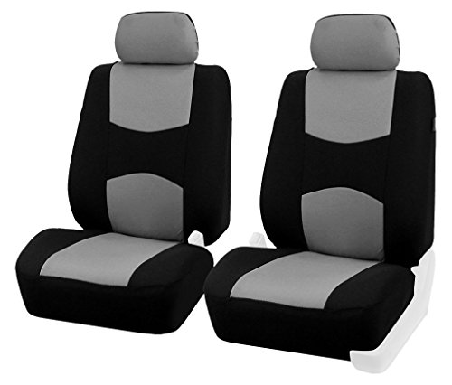 FH Group Half FB051GRAY102 Gray Bucket Airbags Compatible Car Seat Cover, Set of ()