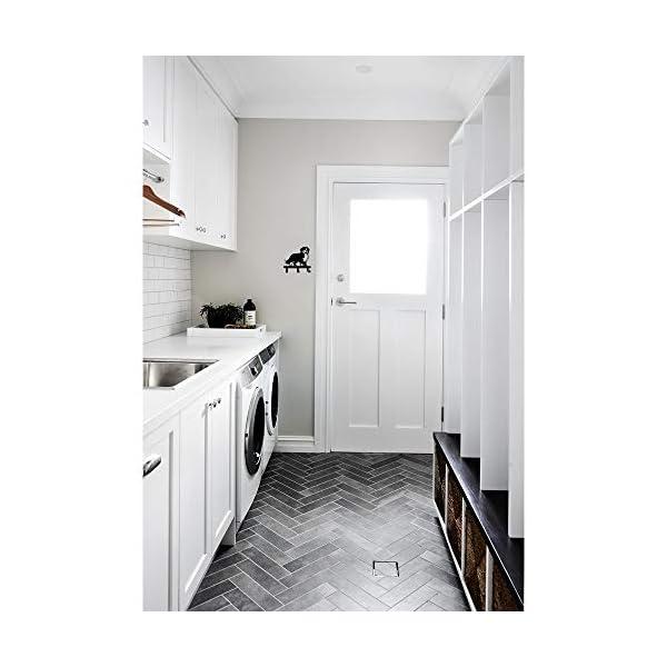Border Collie Shape Silhouette Australia Shepherd Design Metal Wall Hook for Leash Keys Clothes Towel Kitchen Mudroom Bedroom Bathroom 5