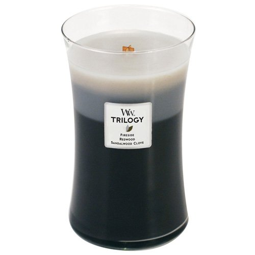 Woodwick Candle Warm Woods Trilogy Large - English Stand Candle