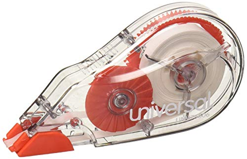 UNV75606 - Universal Correction Tape with Two-Way Dispenser, Non-Refillable, 1/5 x 315, 6/Box