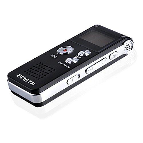 Evistr Portable Black 8GB Digital Audio Voice Recorder