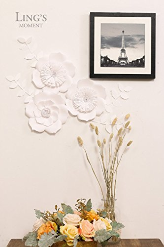 Ling S Moment 3d Flowers Large White Paper Flower Import It All